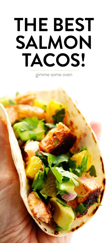 Super-Simple Salmon Tacos with Juicy Citrus Salsa images