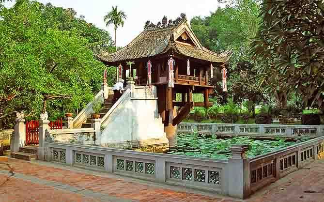 One Pillar Pagoda - an iconic symbol of Hanoi, Vietnam and one of the unique works of architecture on the continent.