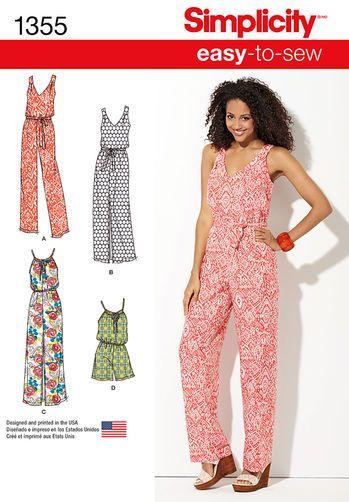 Misses\' Maxi Dress & Long or Short Jumpsuit | Simplicity | Pinterest