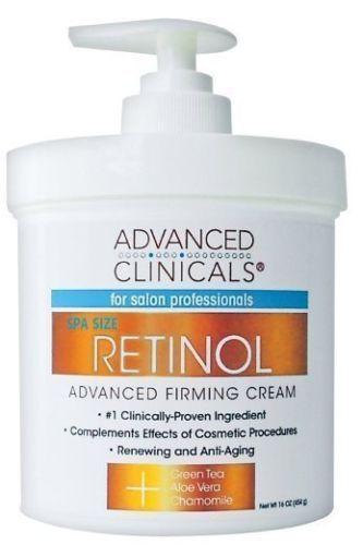 Advanced Clinicals Retinol Face Firming Cream Anti Aging 16 Oz Pump Sealed Firming Cream Face Firming Cream Organic Face Products