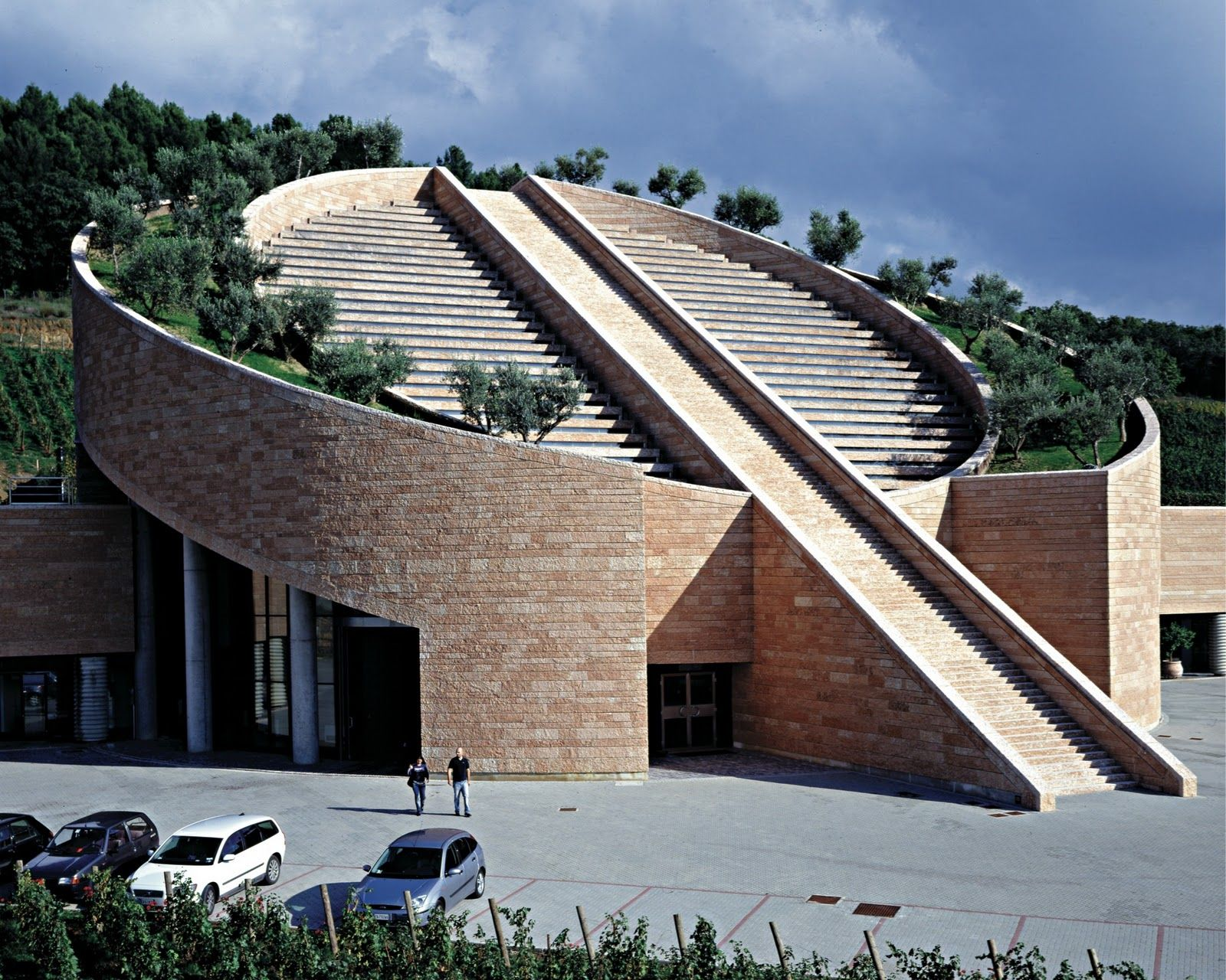 Modern Architecture In Italy mario botha. the new winery, chateau fozher - france, saint