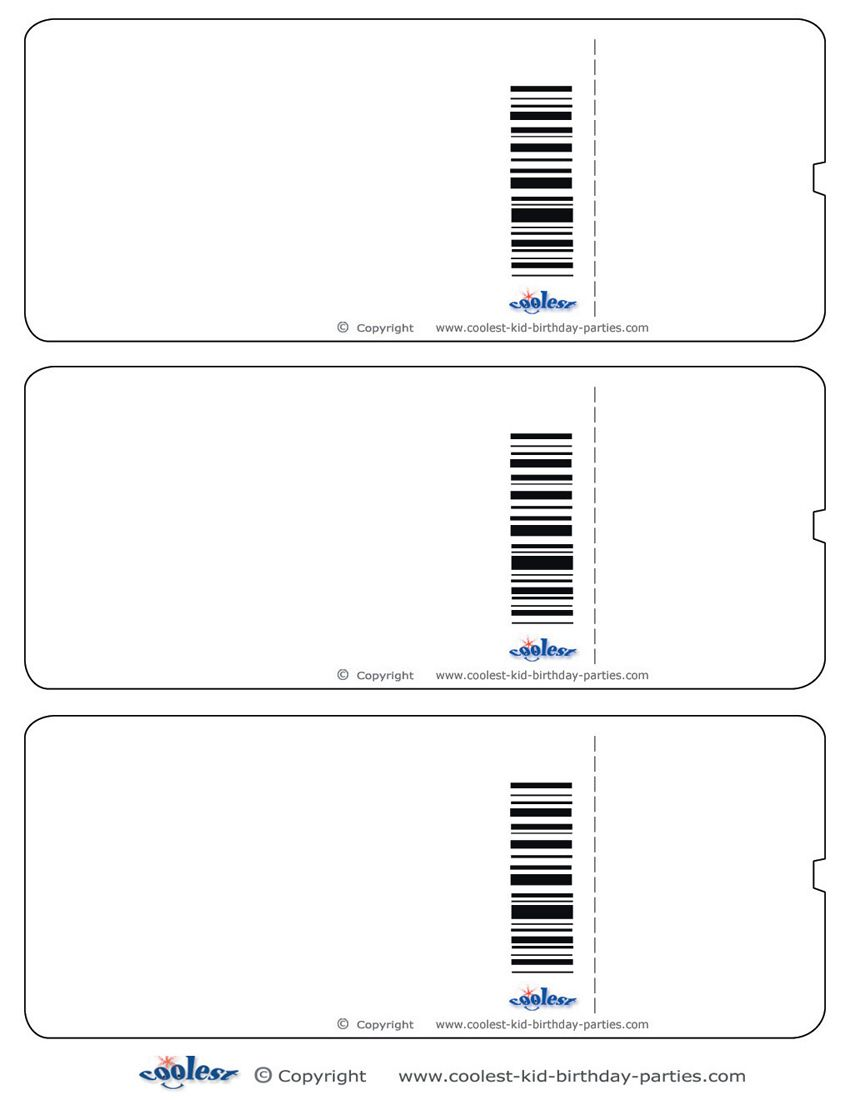 Blank Printable Airplane Boarding Pass Invitations Coolest Free – Ticket Template Free