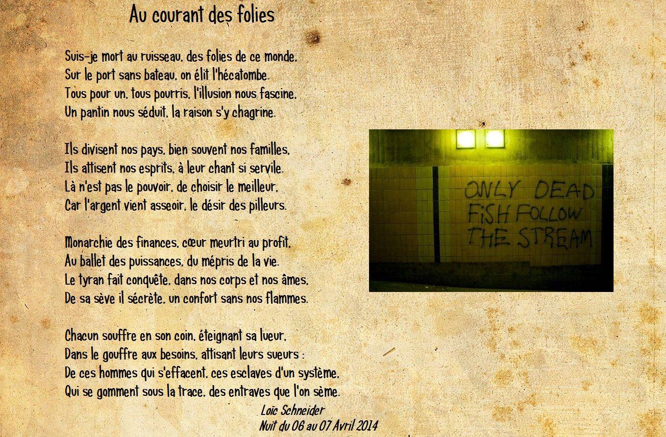 129 Au Courant Des Folies Poème Poésie écriture