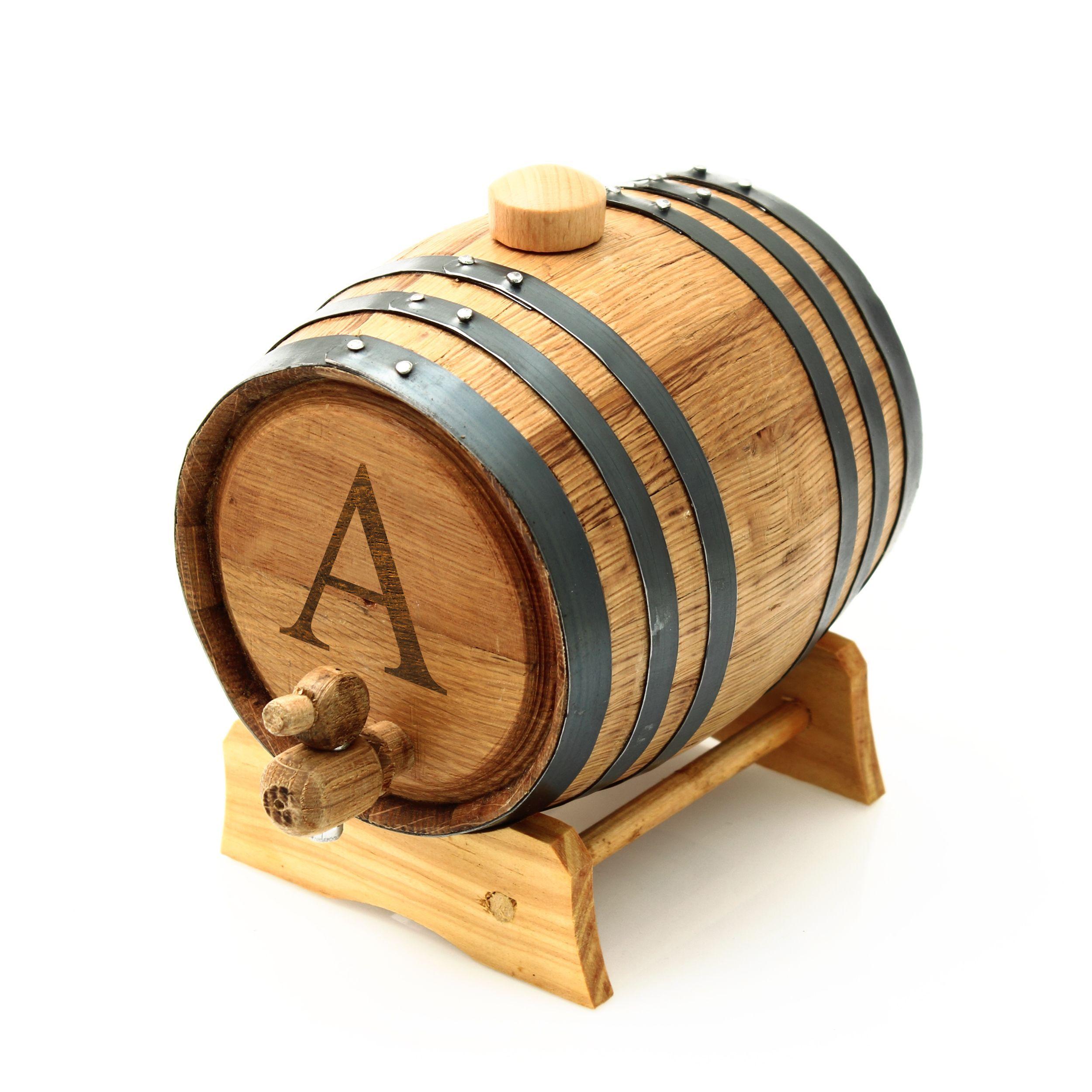 Personalized Sealed Oak grass Barrel