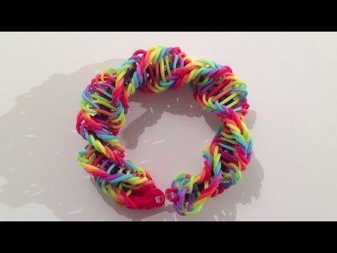 Rainbow Loom Nederlands dubbele x armband, double X bracelet