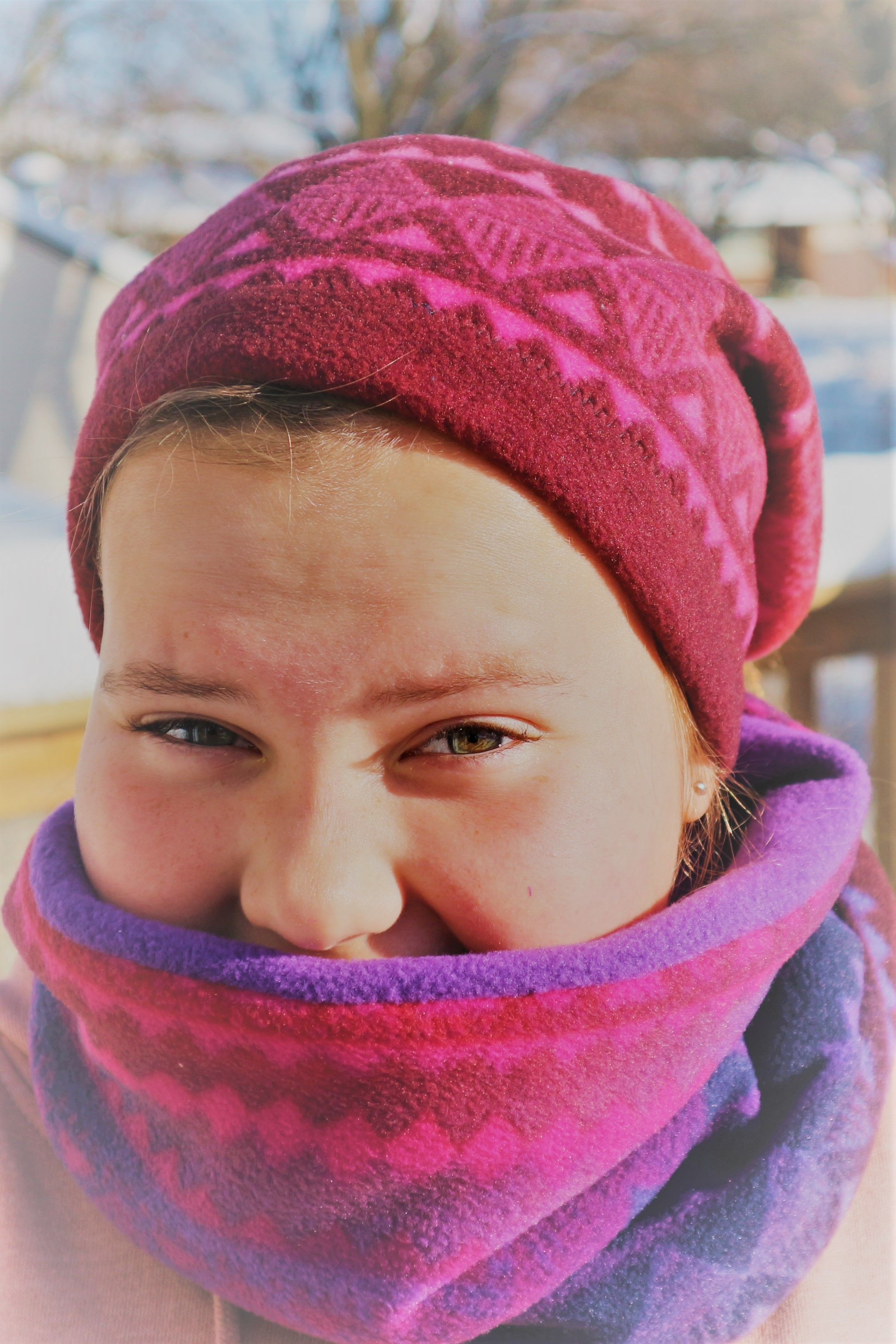 Sew a fleece snoodneck warmer in just minutes Sewing