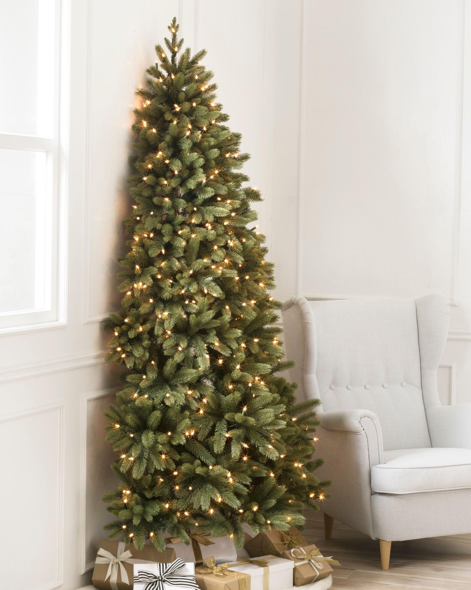 How To Put Ribbon On A Christmas Tree 2020 Tutorial A Pop Of Pretty Half Christmas Tree Flat Back Christmas Tree Realistic Artificial Christmas Trees