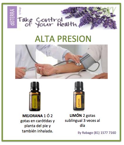 Aceites esenciales y medicamentos para la presión arterial
