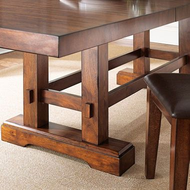 Cannon Valley Adjustable Counter Height Table Dining Room Media