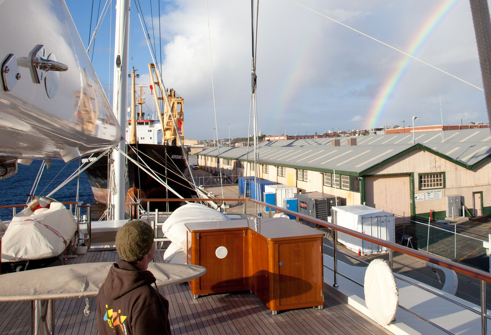 I M On A Boat Working On Sail Yacht Eos Sailing Yacht Yacht Sailing