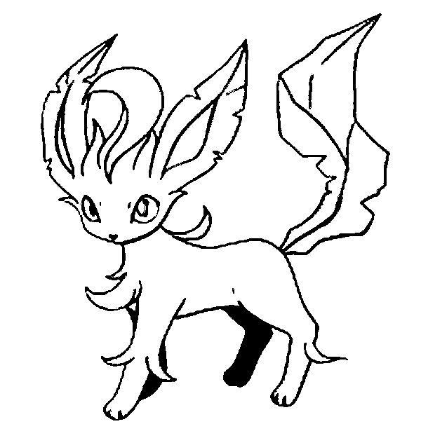 Coloring Pages Pokemon Leafeon Drawings Pokemon Dracaufeu Evoli Fete Enfant