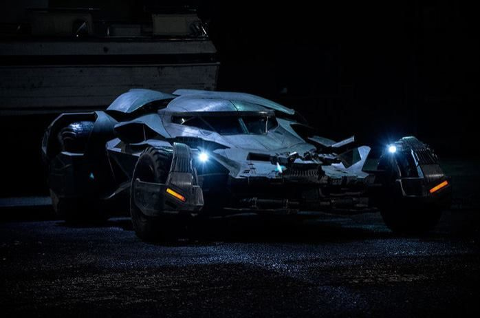 BatCar from upcoming Superman movie BatmanvSuperman Down of Justice