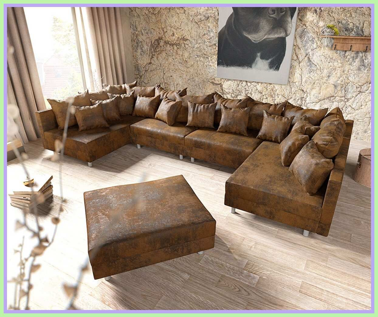 12 reference of sofa antik leder optik in 12   Sofa bed design ...