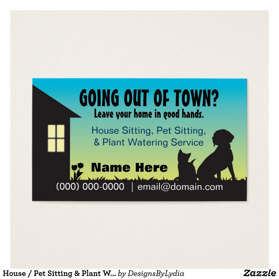 House Pet Sitting Plant Watering Business Card Zazzle Com