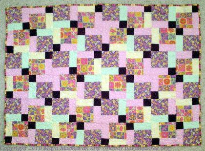 One of two quilts made for my friend's twin girls. Mar 2010.