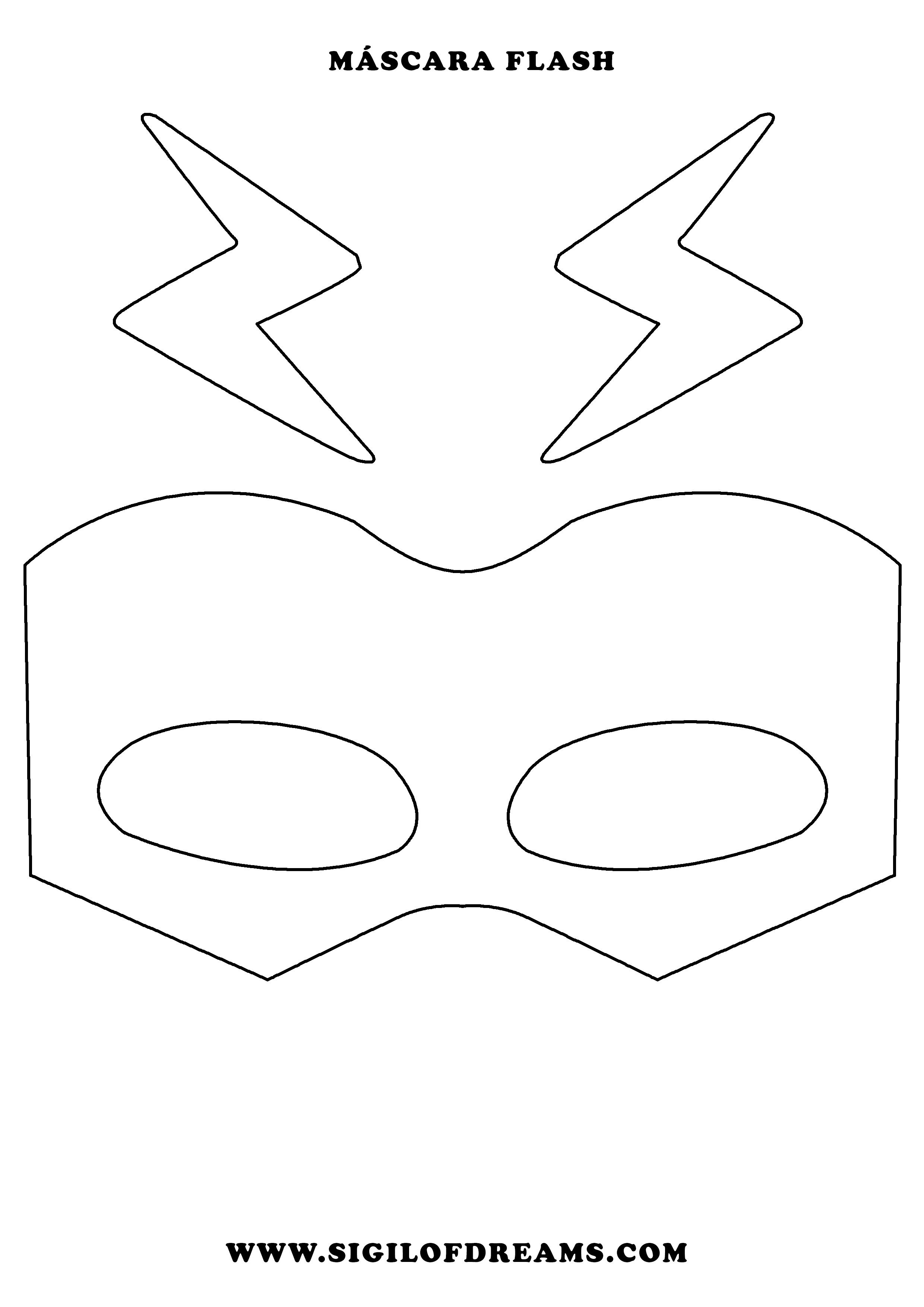 Máscara de Flash para imprimir. #Flash #Mask #Mascara #superheroe ...