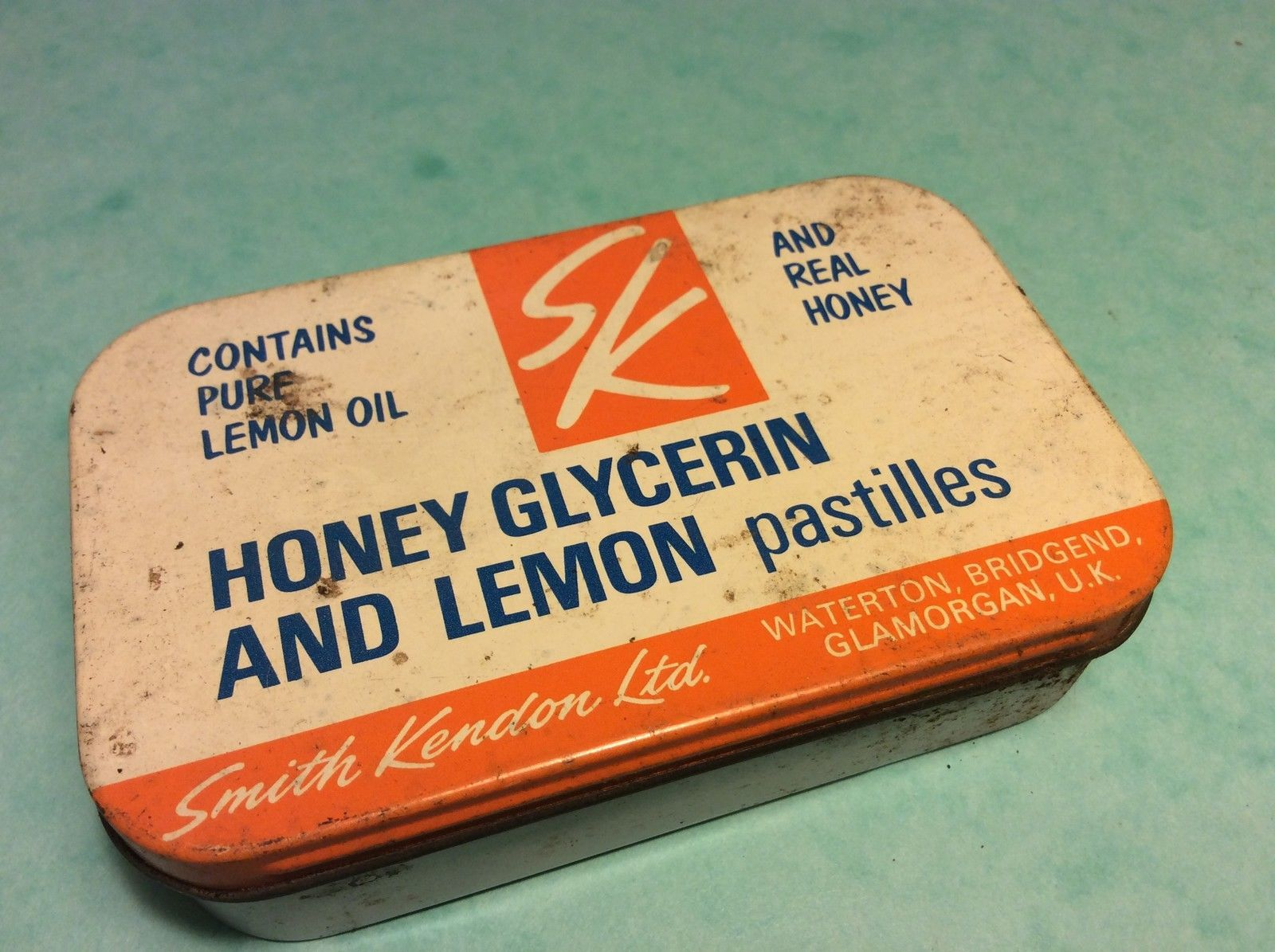 Old Tin Honey Glycerin And Lemon Pastilles Smith Kendon Ltd Glamorgan Uk Advertising Collectibles Glycerin Pure Oils