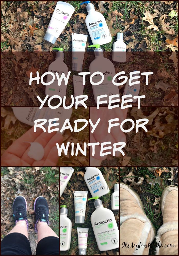 How to Get Your Feet Ready For Winter @AmLactin  #ad