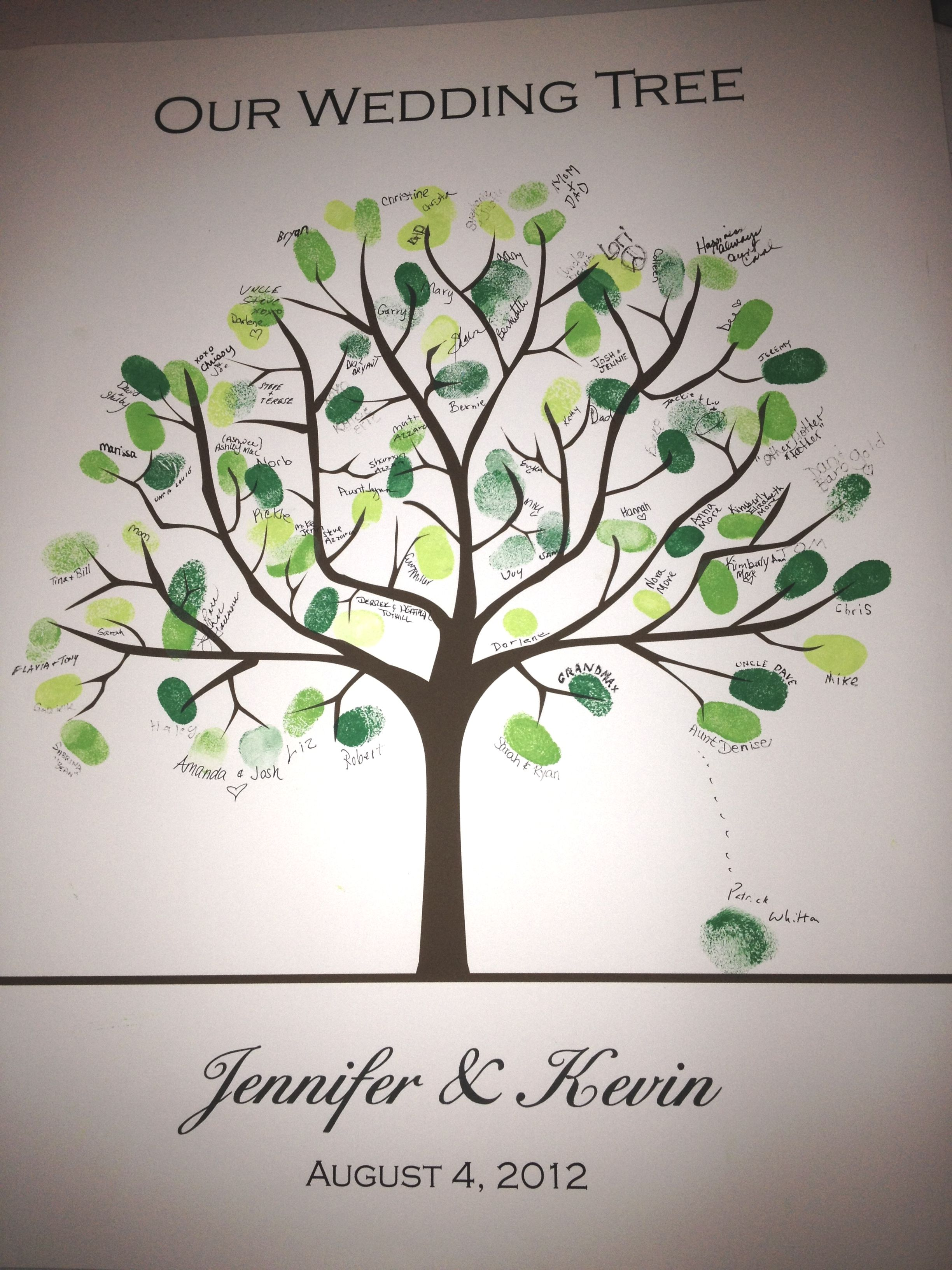 Image Result For Wedding Tree Fingerprint Guest Book