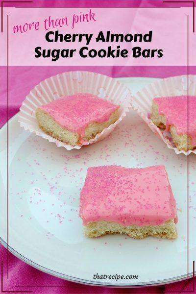 Pink Cherry Almond Sugar Cookies for Breast Cancer Awareness Month. Great gift for a breast cancer survivor or charity bake sale. Valentine's Day Cookies