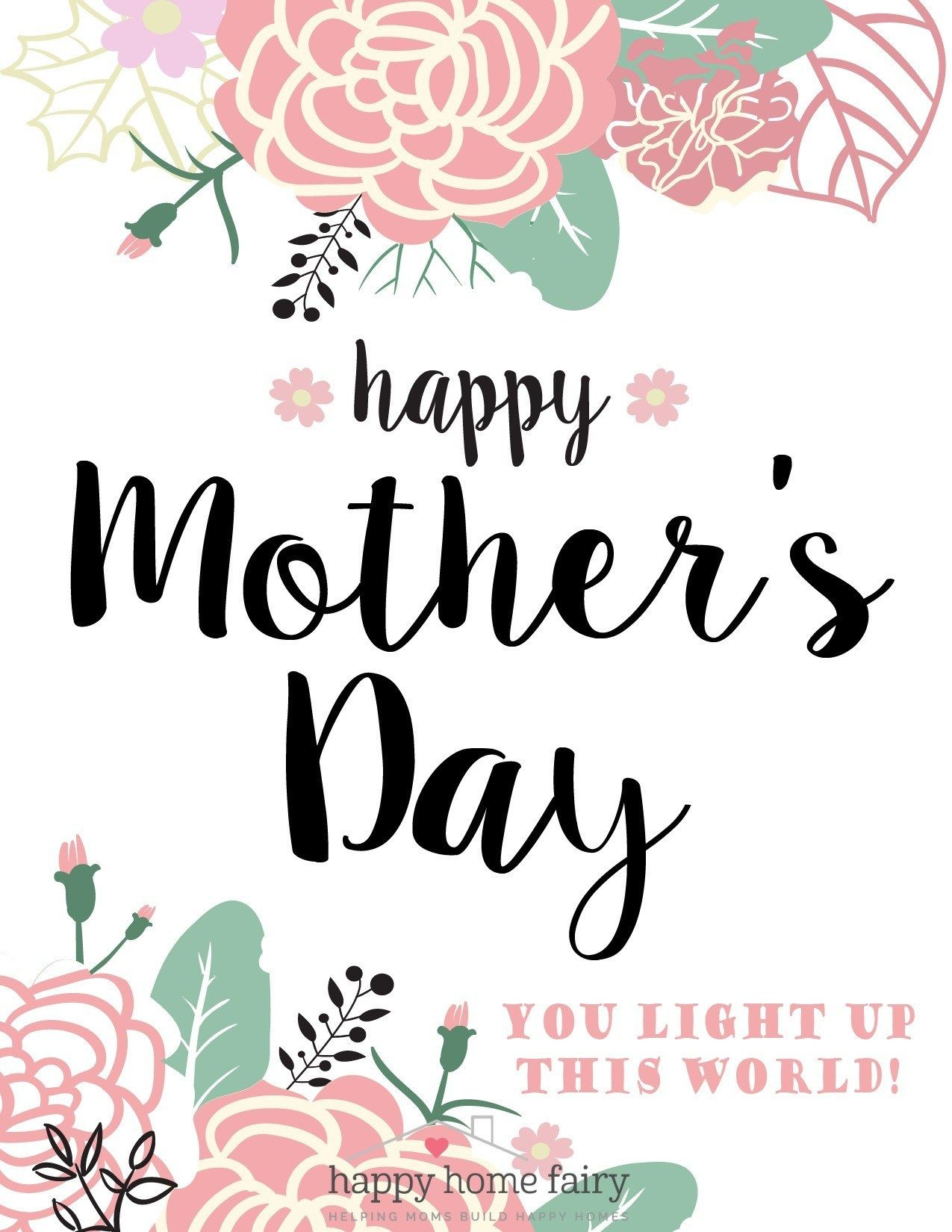 Wallpaper Free Download: printable mothers day card ...  |Happy Mothers Day Certificate Printables