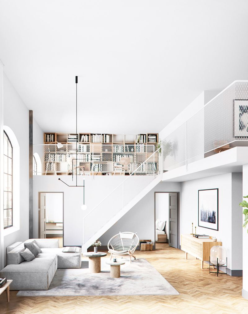 Loft Apartment Design Layout