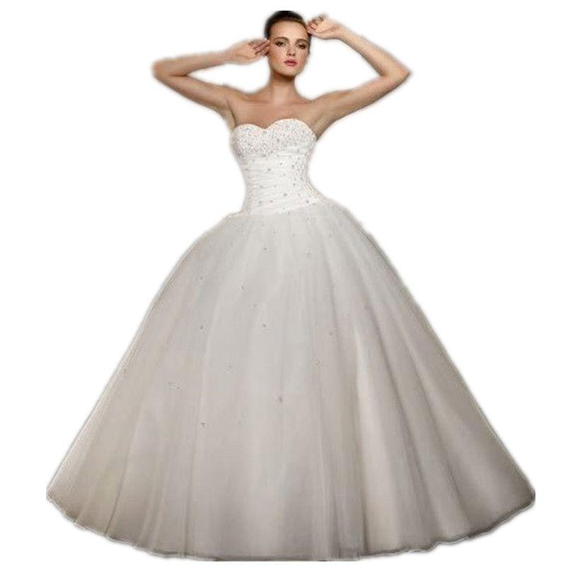 New Arrival Cheap Vestido De Noiva A Line Sweetheart Organza Robe De ...