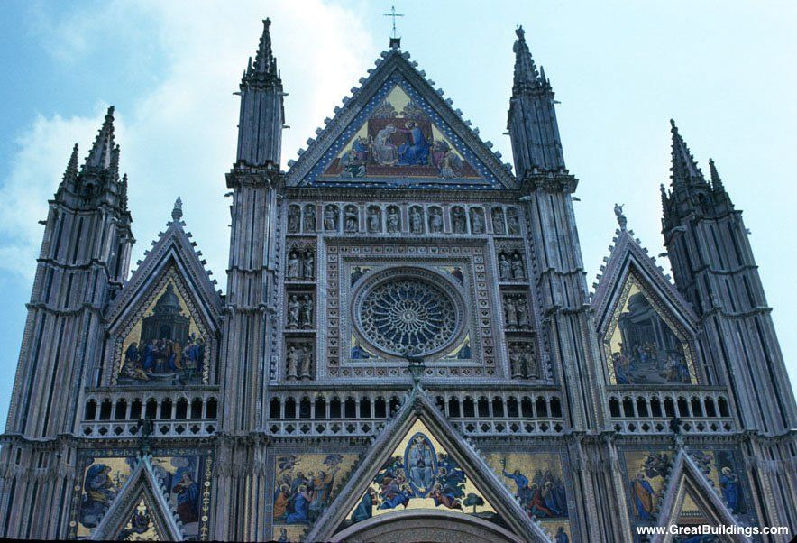Orvieto Cathedral Great Example Of Italian Gothic Architecture