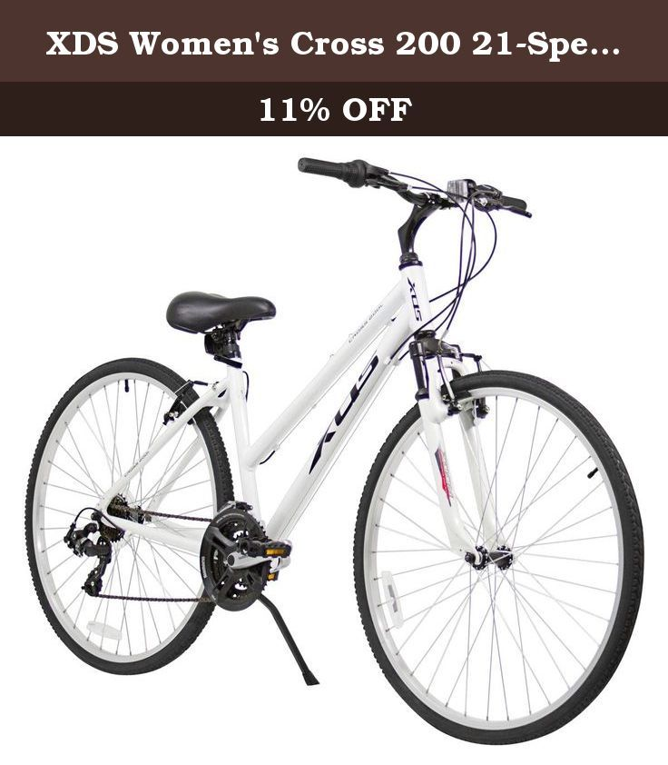 de6f5e08e2d XDS Women s Cross 200 21-Speed Step-Through Hybrid Bicycle