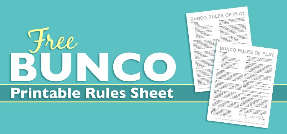 photo regarding Bunco Rules Printable named Totally free Printable Bunco Pointers Sheet BUNCO Bunco legislation