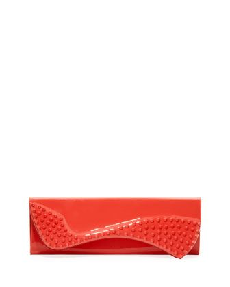 Pigalle Patent Spike Clutch Bag, Pink by Christian Louboutin at Neiman Marcus.