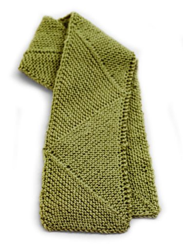 This Scarf Features Modular Knitting To Create A Fun Triangular Look