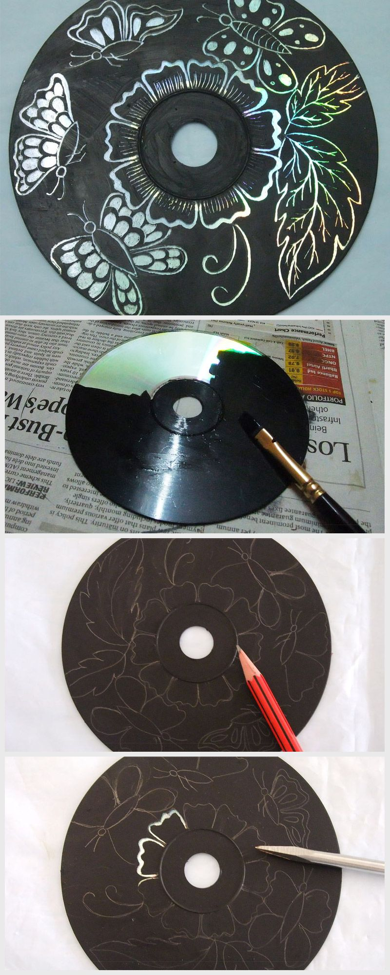CD Art | Tools and DIY materials | Recycled art projects