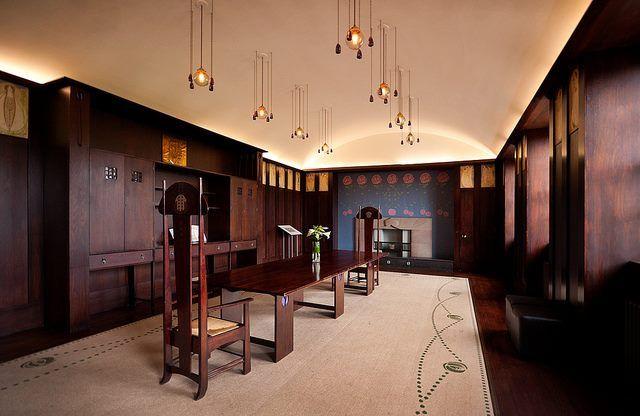Art Nouveau - The House for an Art Lover - Salle à manger construite entre 1989 et 1996 d'après les Croquis de Charles Rennie Mackintosh effectués en 1901 (voir Esquisse)