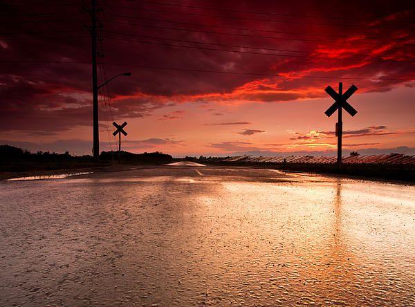 Railroad sunset