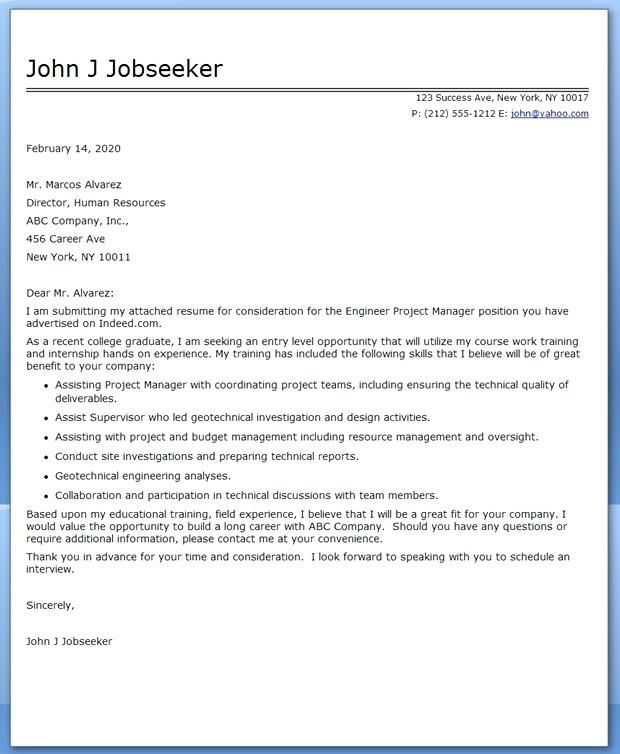 Technical Theatre Cover Letter Examples Job Cover Letter