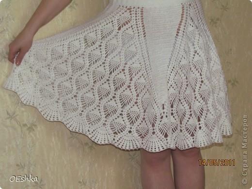 Вязание крючком юбка ананас