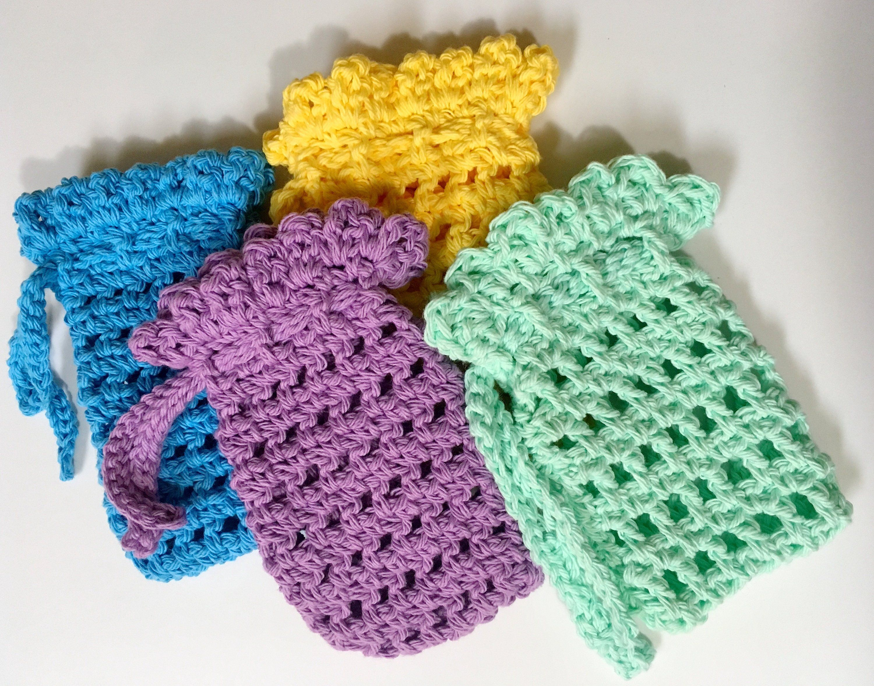 Simple Soap Holder Crochet Pattern | Maggie\'s Crochet - All About ...
