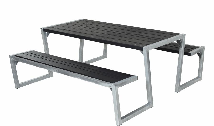 ZIGMA table de jardin pique-nique design en bois 190 x 176 x 72 cm