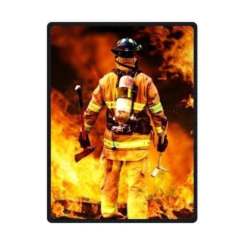 Best Seller BlanketFiremen And Fire Design Fire Department Custom Fleece Blanket 58 x 80 Large