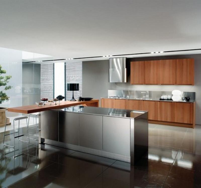 Kitchen Design Basics 10 Cuisines Contemporaines Avec Des Placards En Acier Inoxydable