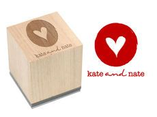 Heart of Mine Wood Block Rubber Stamp