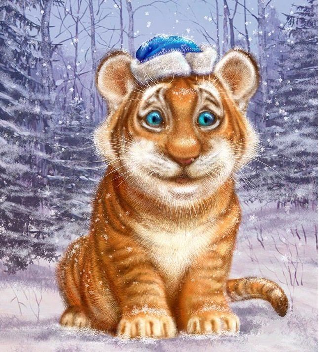 Год тигра картинки, открытки