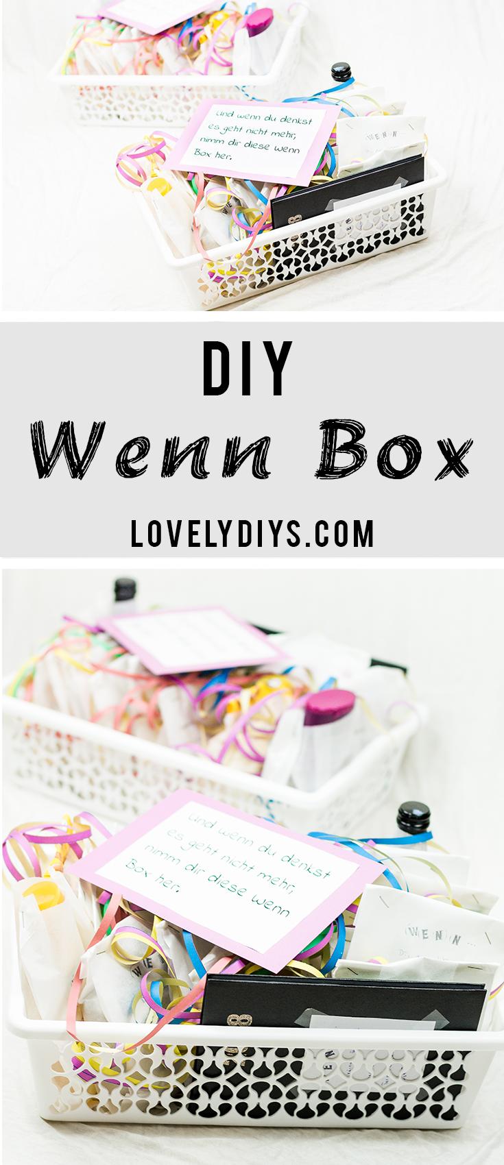 DIY beim Basteln Box – schöne Geschenkidee für jeden Anlass   – Ideas