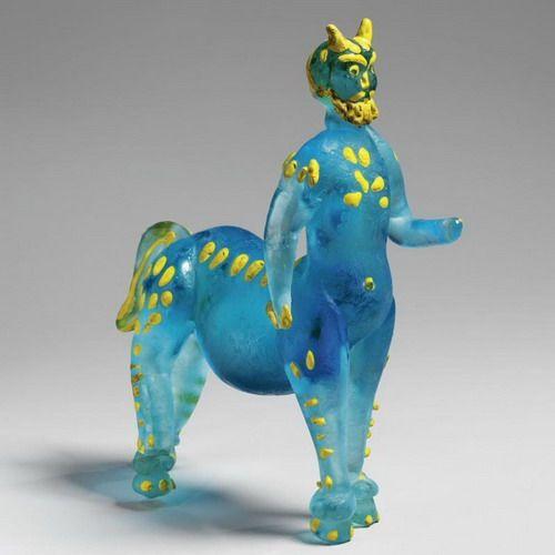 """Pablo Picasso - """"Centaur"""". 1965 glass casting by Picasso"""