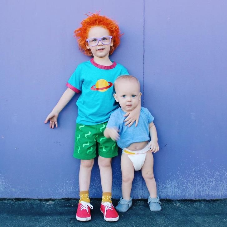 A 90's throwback costume presented by my kids. | Halloween costumes for kids,  Rugrats costume, Kids costumes