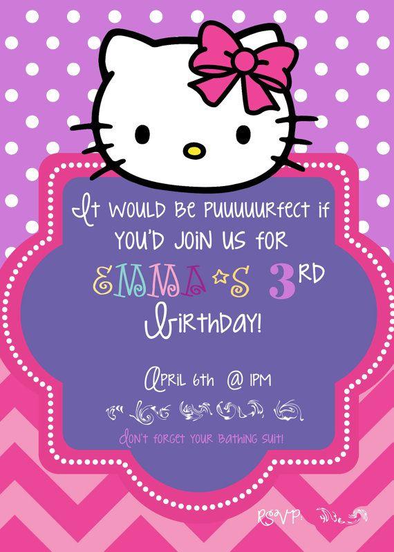 hello kitty birthday invitation by