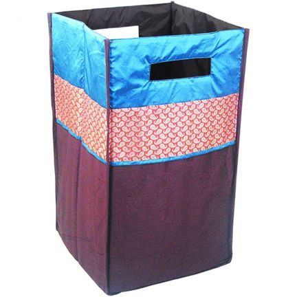 Bianca Contemporary Brown Blue Gold Laundry Bag Laundry Baskets