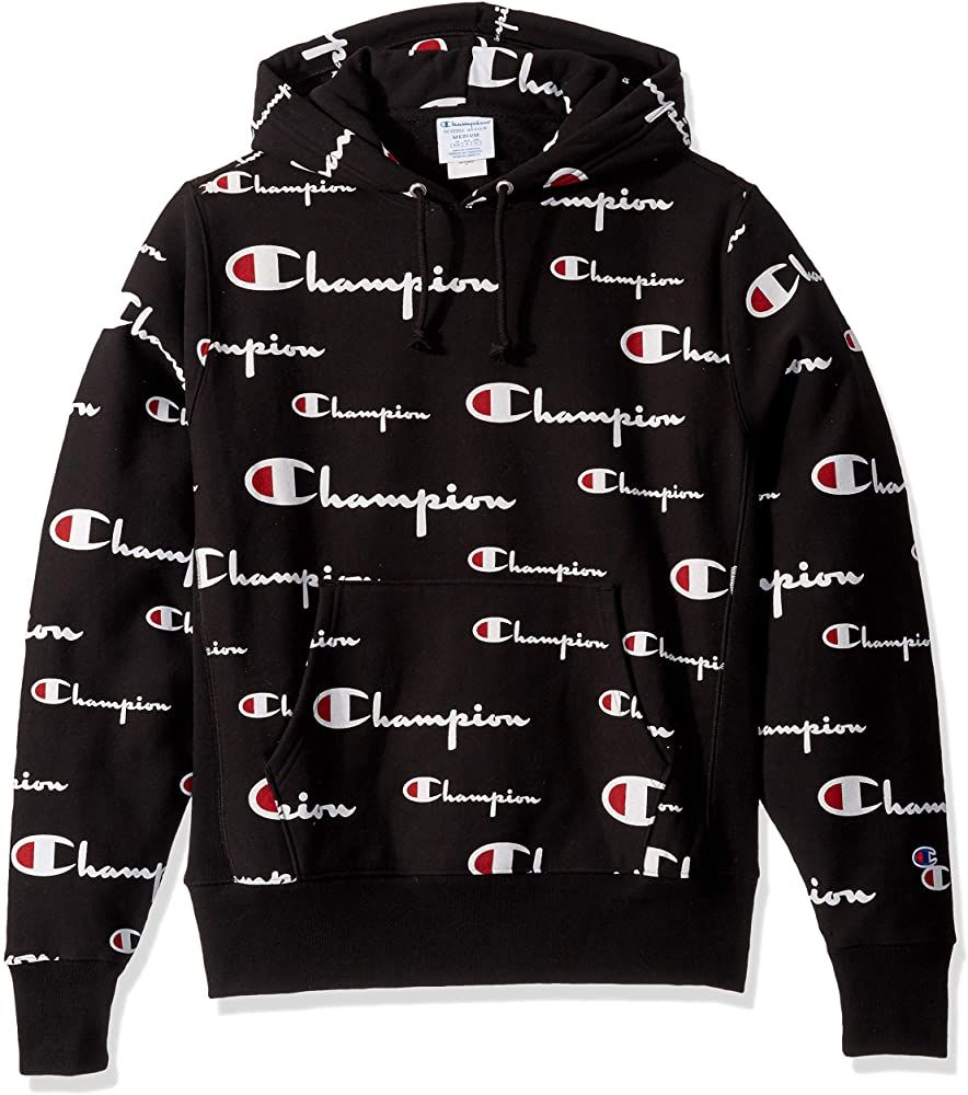 Amazon Com Champion Life Men S Reverse Weave Pullover Hoodie All Over Print Multi Scale Script Black Champion Clothing Hoodie Outfit Men Best Hoodies For Men [ 1000 x 884 Pixel ]