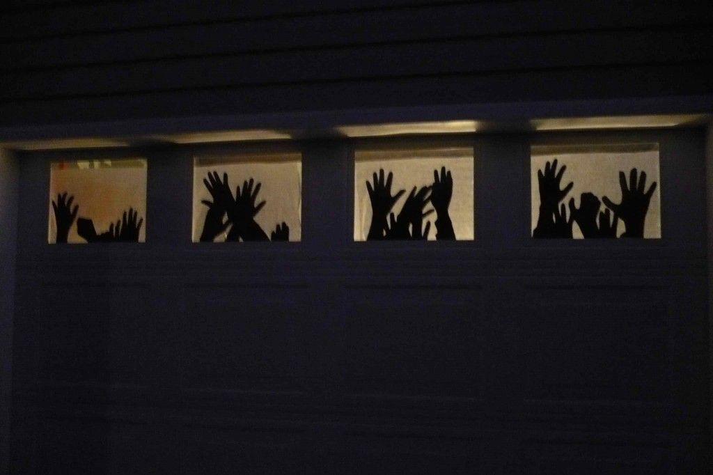 Neat idea We\u0027ll definitely have to decorate our garage door Maybe - halloween garage ideas